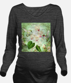 Modern Vintage French Hummingbirds Long Sleeve Mat