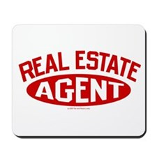REAL ESTATE AGENT (Red) Mousepad