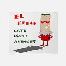 El Kebab - Late Night Avenger Throw Blanket