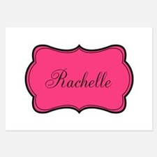 Personalizable Pink and Black Invitations
