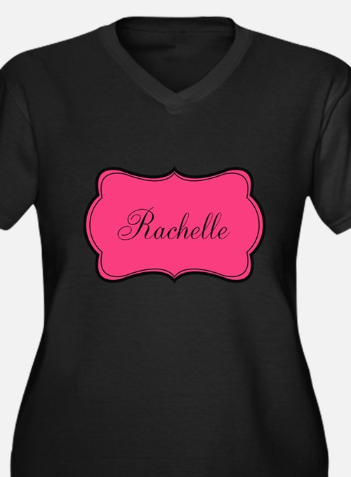 Personalizable Pink and Black Plus Size T-Shirt