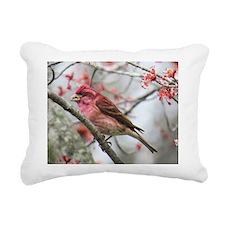 Purple Finch Rectangular Canvas Pillow