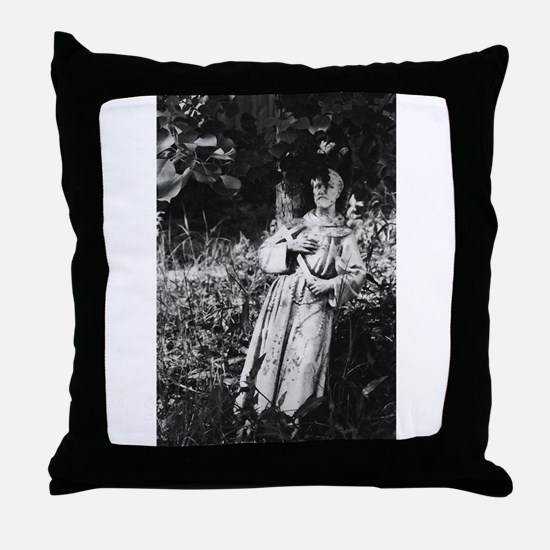 St. Francis (bw photography) Throw Pillow