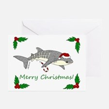Xmas Whale Shark Greeting Cards