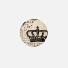 Modern Vintage French crown Mini Button