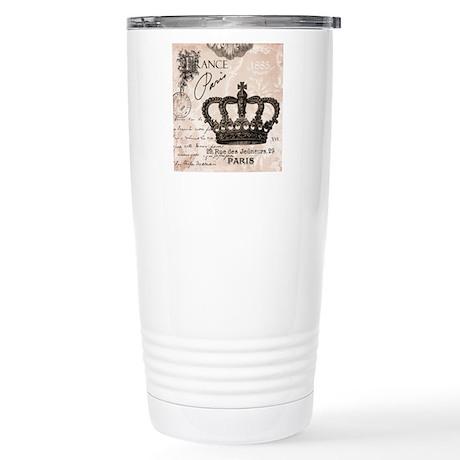 Modern Vintage French crown Travel Mug