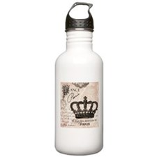 Modern Vintage French crown Water Bottle