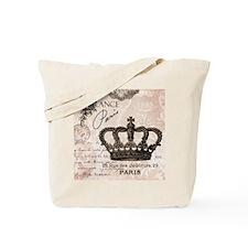 Modern Vintage French crown Tote Bag