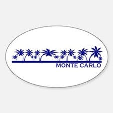 Monte Carlo Blue Palms II Oval Decal