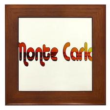 Monte Carlo Sunset Type Framed Tile