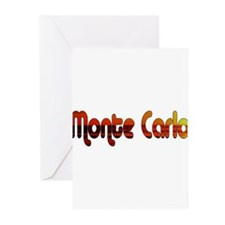 Monte Carlo Sunset Type Greeting Cards (Package of