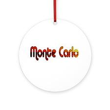Monte Carlo Sunset Type Ornament (Round)