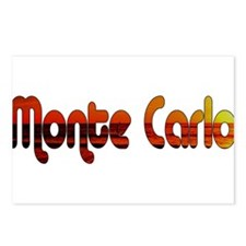 Monte Carlo Sunset Type Postcards (Package of 8)