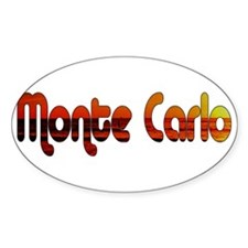Monte Carlo Sunset Type Oval Decal