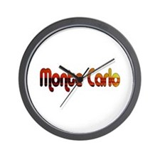 Monte Carlo Sunset Type Wall Clock