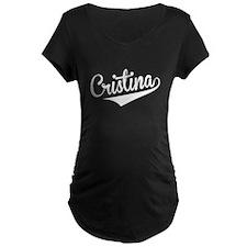 Cristina, Retro, Maternity T-Shirt