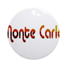 Monte Carlo Sunset Type (Dark Ornament (Round)