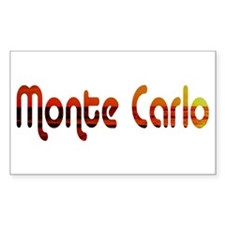 Monte Carlo Sunset Type (Dark Sticker (Rectangular