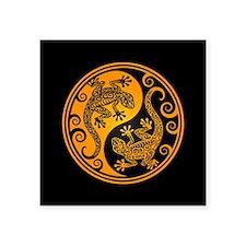 Yellow and Black Yin Yang Geckos Sticker
