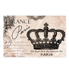 Modern Vintage French crown Postcards (Package of