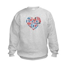 England World Cup 2014 Heart Sweatshirt