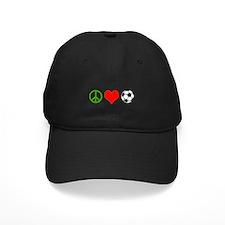PEACE LOVE SOCCER Baseball Hat