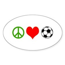 PEACE LOVE SOCCER Decal
