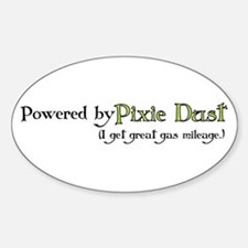 Powered by Pixie Dust Oval Decal