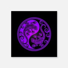 Purple and Black Yin Yang Geckos Sticker