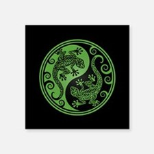 Green and Black Yin Yang Geckos Sticker
