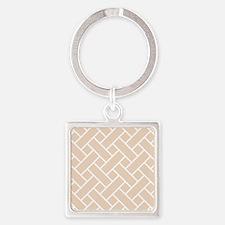 Peach Basket Weave Keychains