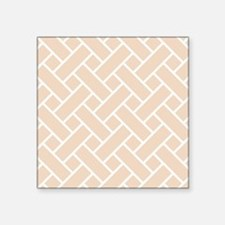 Peach Basket Weave Sticker