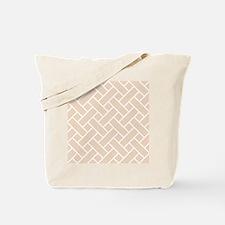 Peach Basket Weave Tote Bag