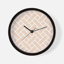Peach Basket Weave Wall Clock