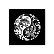 White and Black Yin Yang Geckos Sticker