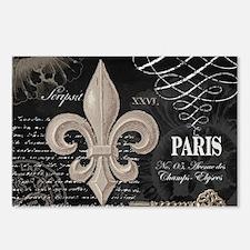 Modern Vintage French Fleur de Lis Postcards (Pack