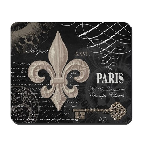 Attractive Modern Vintage French Fleur De Lis Mousepad