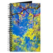 Spring Is Here Air Brushed Tree Leaves Journal