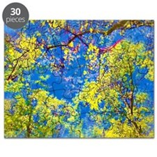 Spring Is Here Air Brushed Tree Leaves Puzzle