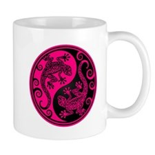 Pink and Black Yin Yang Geckos Mugs