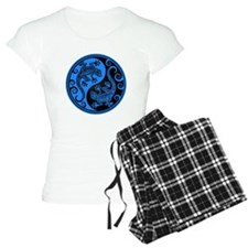 Blue and Black Yin Yang Geckos pajamas
