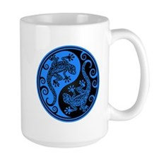 Blue and Black Yin Yang Geckos Mugs
