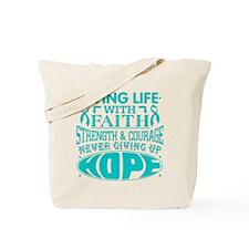 Peritoneal Cancer Faith Tote Bag