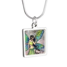 Emerald Dragon and Fairy Fantasy Art Necklaces