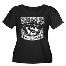 Wolves Football Plus Size T-Shirt