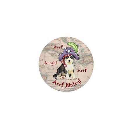 Husky Pirate Mini Button
