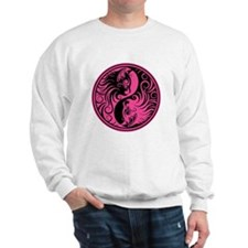 Pink and Black Yin Yang Kittens Sweater