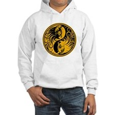 Yellow and Black Yin Yang Kittens Hoodie Sweatshir