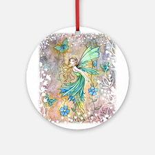 Enchanted Garden Fairy Fantasy Art Ornament (Round