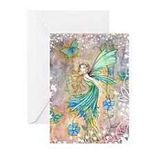 Enchanted Garden Fairy Fantasy Art Greeting Cards